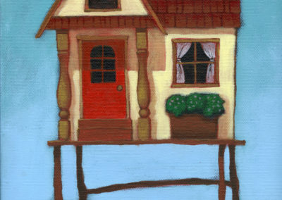 The One with the Bright Red Door